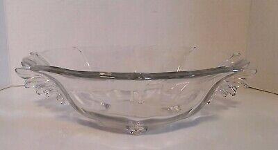 "Vintage Clear Beautiful Bowl Depression Glass Scalloped Edges 11"" Dia"