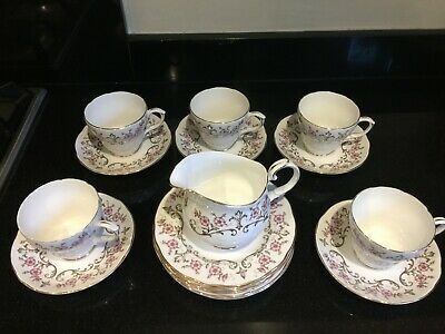 Duchess Bone China tudor rose - Cups & Saucers, Side plates + Milk jug