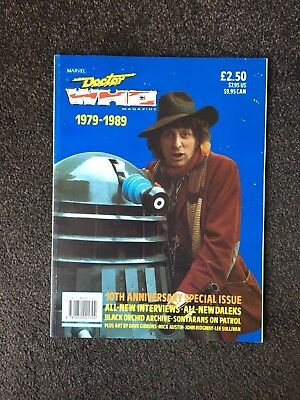 Doctor Who Magazine  1979-1989 - 10th Anniversary Special Issue - Rare