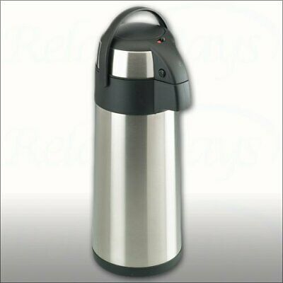 3L Lit Stainless Steel Airpot Hot Tea Coffee Drinks Vacuum Flask Thermos Jug