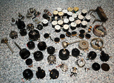 Vintage Joblot Collection of Potentiometers, Electrical Components Radio Repair