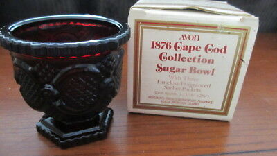 Avon 1876 Cape Code Collection Cranberry Ruby Red Sugar Bowl