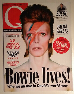 DAVID BOWIE - 'Q' Magazine - APRIL 2013 - 'WHY WE ALL LIVE IN DAVID'S WORLD NOW'