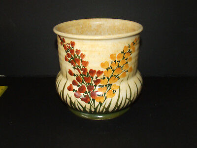 """A  E RADFORD VINTAGE Vase Hand painted 7"""" high   POTTERY Good con"""
