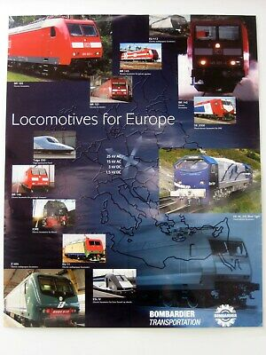 """Poster """"Locomotives for Europe"""" Bombardier"""
