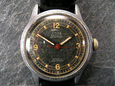 1935 TITUS Geneve Solvil ETA 811 17 J Military Vintage Retro 31mm Midsize Watch