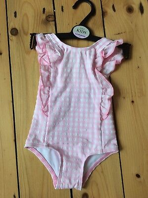 e68226f611 M&S BABY GIRL SWIMSUIT SWIMMING COSTUME 3 - 6 MONTHS Pink Gingham Checked  BNWT