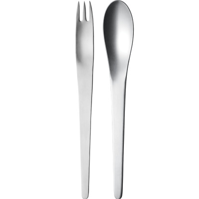 Arne Jacobsen by Georg Jensen Stainless Serving Server Set 2-pieces New