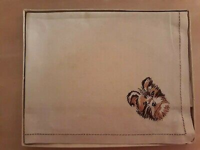 Vintage Sundew Linen Embroidered Tray Cloth