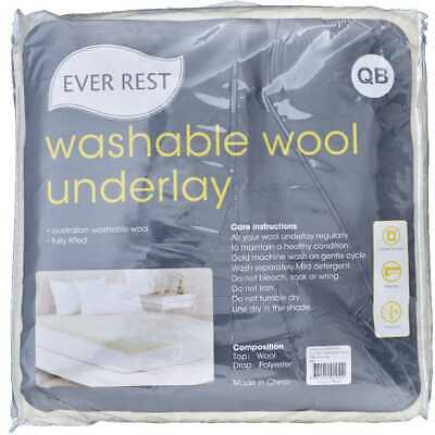 NEW Ever Rest Washable Wool Fitted Underlay By Spotlight