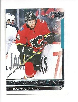 2018-19 UD Upper Deck # 470 Spencer Foo Young Guns Rookie Rc Calgary L@@K