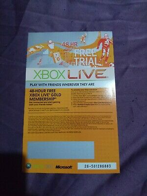Xbox Live 48 Hour 2 Days Gold Trial Code 48Hr