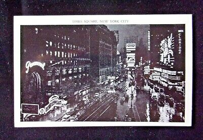 """Vintage Postcard """"Times Square New York City At Night  #02141907"""
