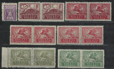 Poland Fischer #  97 - 101 Edition For The Entire Territory Of The Republic Mnh.