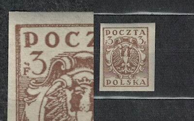 Poland Fischer # 85  For Northern  Poland Issue .imperfor, Error ,extra Dots.191
