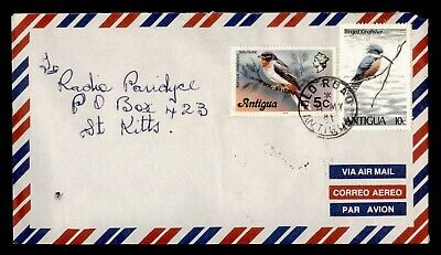 DR WHO 1981 ANTIGUA OLD ROAD AIRMAIL TO ST KITTS  d85488