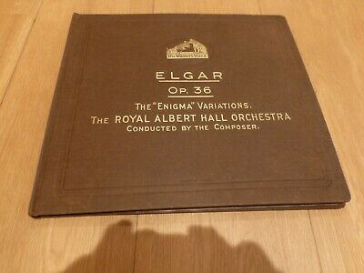 vintage 78rpm records Enigma variations conducted by Elgar
