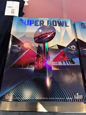 Super Bowl LIII 53 NFL Official Holographic Stadium Edition Program Atl GA  NEW