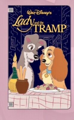 Lady And The Tramp Puppy Love Video VHS Tape Book Cover Disney Parks LE Pin