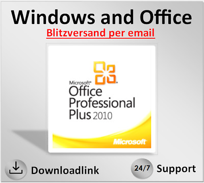 MS Office 2010 Professional Plus, Pro Plus, 32 &64 Bits, direkt per Email