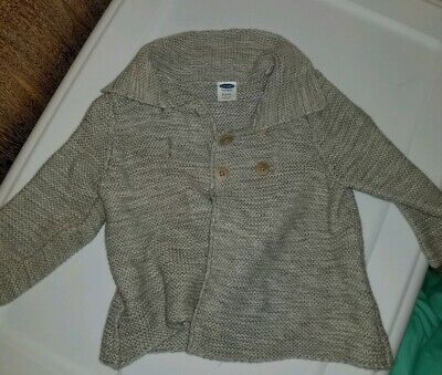 Infant Girl's Boy's Gray Button Up Sweater BabyGap 3-6 Months