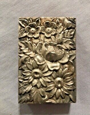 Vintage Rare Sterling Silver S. Kirk & Son Repousse Match Box Cover No Reserve