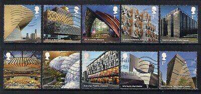 Gb 2017 Landmark Buildings Multi Issue Commemorative Stamps Good Used Off Paper