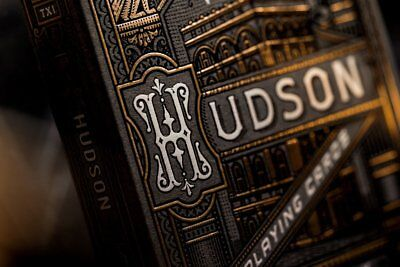 Black Gold Hudson Playing Cards Luxury Custom Poker Deck Theory11 not Bicycle !