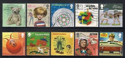 Gb 2017 Classic Toys Multi Issue Commemorative Stamps Good Used Off Paper
