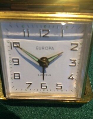 Alarm Clock - Vintage Europa 2 Jewels - Hard Case Made in Germany