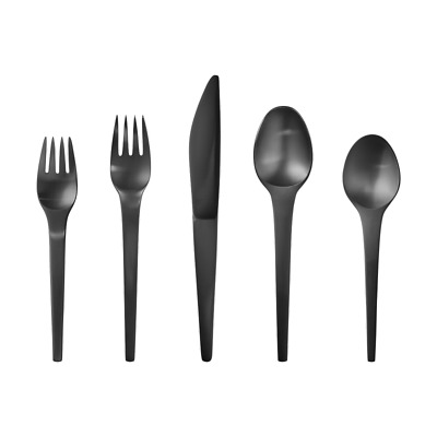 Caravel Black by Georg Jensen Stainless Steel Flatware Set For 12 Service New