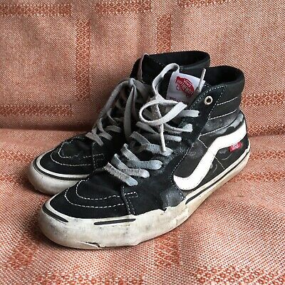72067a3eb7 HEAVILY USED VANS Sk8 Hi Trashed Skate Shoes Men s Size 8 -  50.00 ...