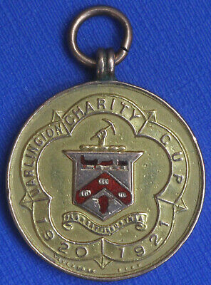Darlington Charity Cup 9CT Gold Winners Medal 1920    NO RESERVE