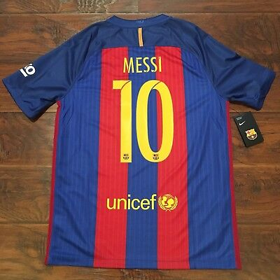 68f614117 2016/17 Barcelona Home Jersey #10 Messi Large Nike Soccer Football  Argentina NEW