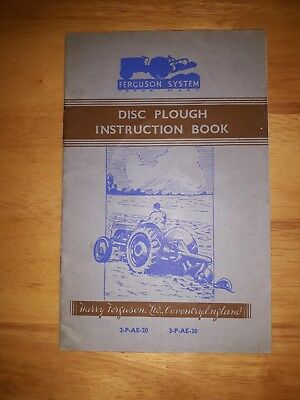 Massey Ferguson Type 2-P-AE-20 3-P-AE-20  Disc Plough  Instruction Book