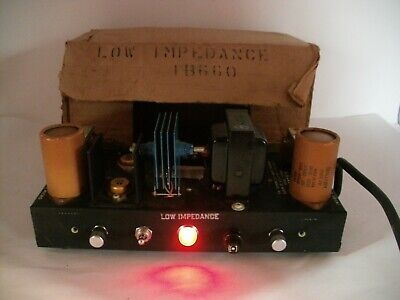 Vintage Low impedance Bank Amp Dukane 1B660 New old stock 115V AC 60 CYCLE 30 WA