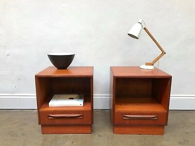 Vintage 70s G Plan Fresco Teak Bedside Tables. Retro Danish DELIVERY AVAILABLE