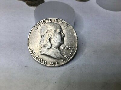 1952-D Franklin Half Dollar 90% SILVER NICE COIN SEE PICTURE (LOT D)