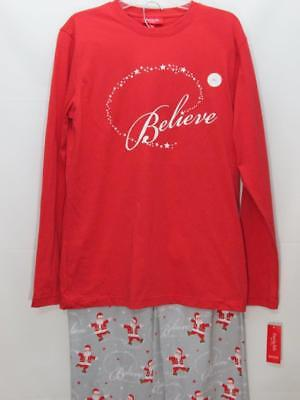 MACY S FAMILY PJS Gray Snowman Elf Christmas Womens Hooded Footie ... 572274a49