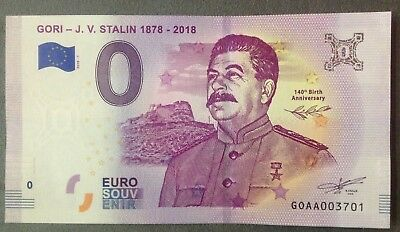 NEW 0 Euro Souvenir Banknote 2018 GEORGIA GORI STALIN 140th Birth Anniversary
