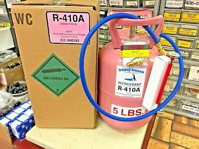R410a, Refrigerant, 5 lb. Can, 410a, Best Value On eBay, FREE SHIP, Hose, Therm.