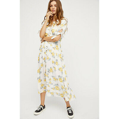 9eefabe17d9d FREE PEOPLE PRINTED Love of My Life Midi Dress S Small NWT - $88.00 ...