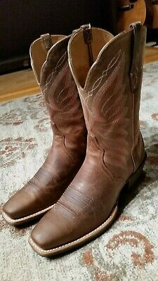 f3651485907 ARIAT AUTRY SADDLE Brown Leather Snip Toe 10
