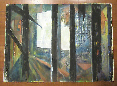 Frederick Montague Charman - MID CENTURY Original Painting -Cityscape Listed NYC