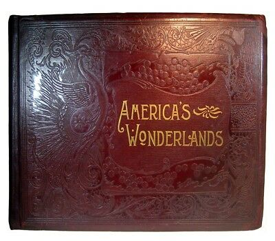 ANTIQUE AMERICAN PHOTO BOOK 1893 1st YELLOWSTONE YOSEMITE GRAND CANYON OLD WEST