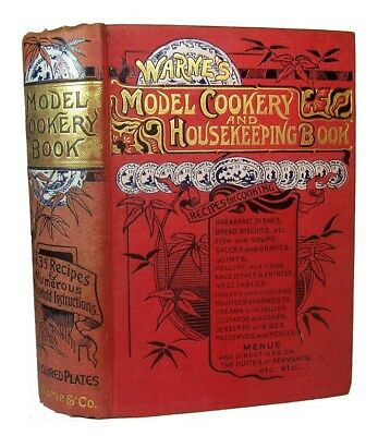 Antique Cookbook Victorian Cookery 1890 Vintage Home Confectionery Pastry Old