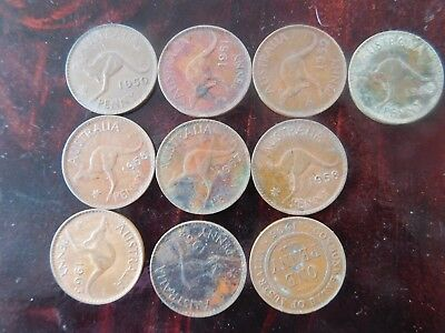 coins.australia.lot.of.10.pENNY
