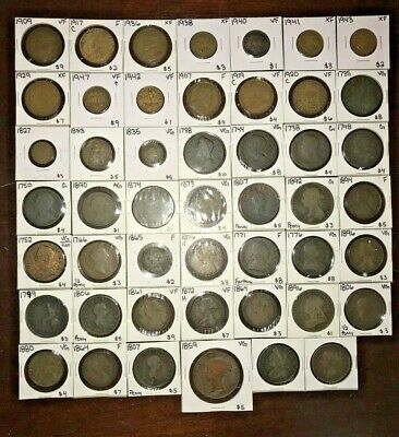 Newfoundland - Great Britain - Coin Lot - 1700-1900 - Collectors Lot - (48)Coins