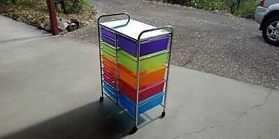 craft trolley- multi coloured