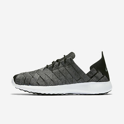NIKE WMNS JUVENATE Woven Prm Black Cool Grey White Roshe Huarache ... da6019cf63